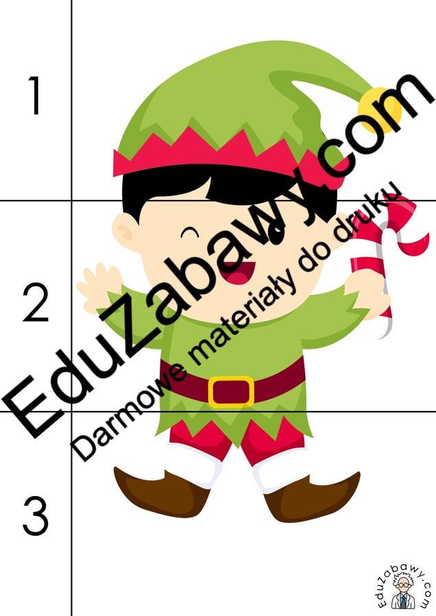 Boże Narodzenie: Puzzle 3 elementy (10 szablonów) Boże Narodzenie Karty pracy Karty pracy (Boże Narodzenie) Karty pracy (Mikołajki) Mikołajki Puzzle