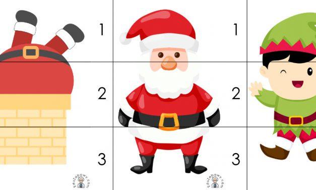 Boże Narodzenie: Puzzle 3 elementy (10 szablonów)