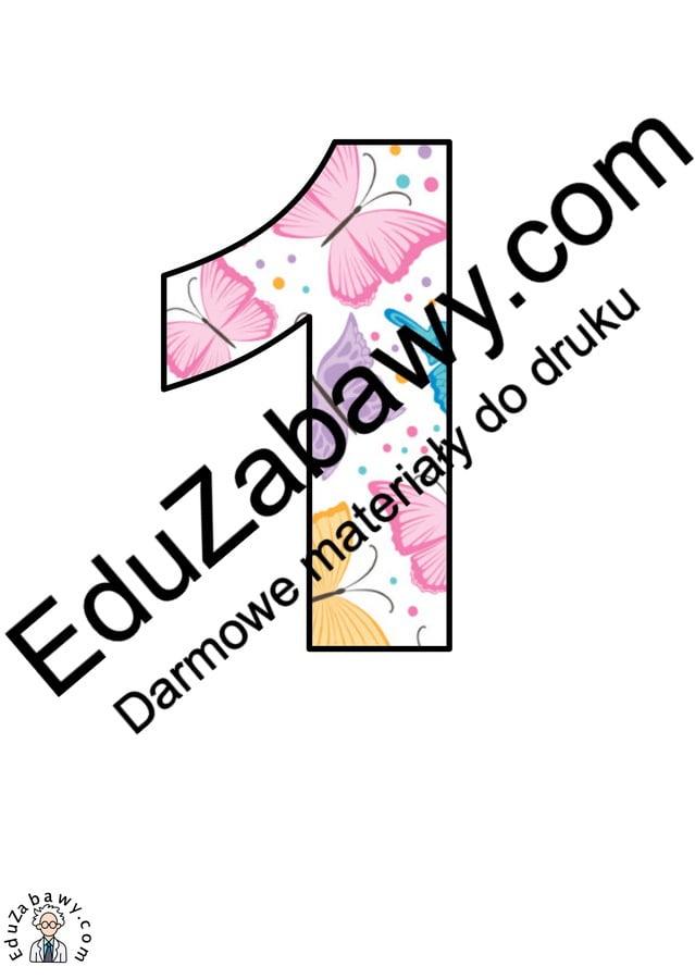 Motylki: Cyfry i znaki specjalne Litery i cyfry do tworzenia napisów Pory roku (Litery i cyfry do druku) Wiosna (Litery i cyfry)