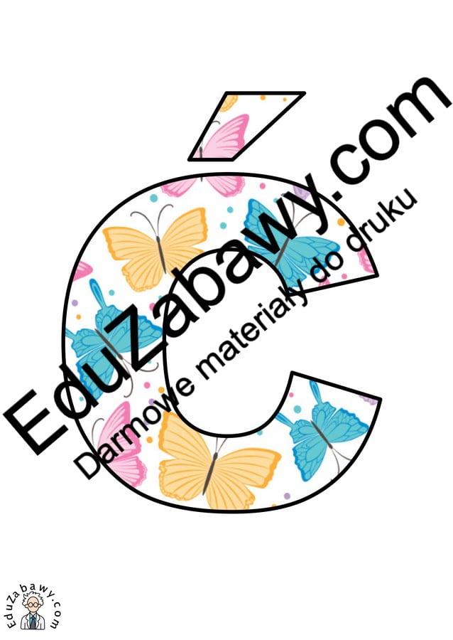 Motylki: Litery duże Litery i cyfry do tworzenia napisów Pory roku (Litery i cyfry do druku) Wiosna (Litery i cyfry)