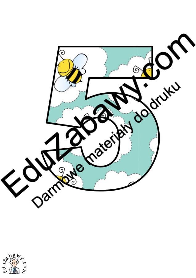 Pszczółki: Cyfry i znaki specjalne Litery i cyfry do tworzenia napisów Pory roku (Litery i cyfry do druku) Wiosna (Litery i cyfry)