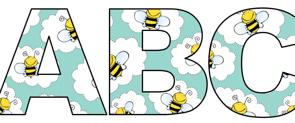 Pszczółki: Litery duże