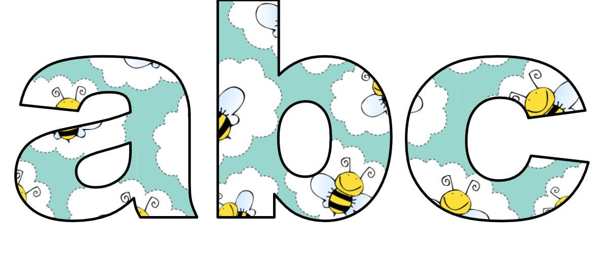Pszczółki: Litery małe