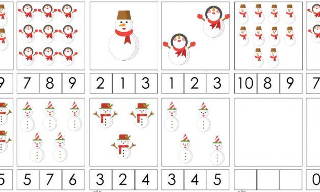 Zima: Matematyka Klamerkowa (40 kart pracy)