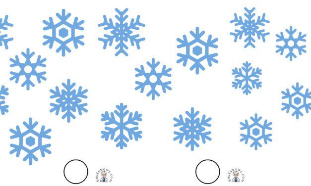 Zima: Nauka liczenia (10 kart pracy)