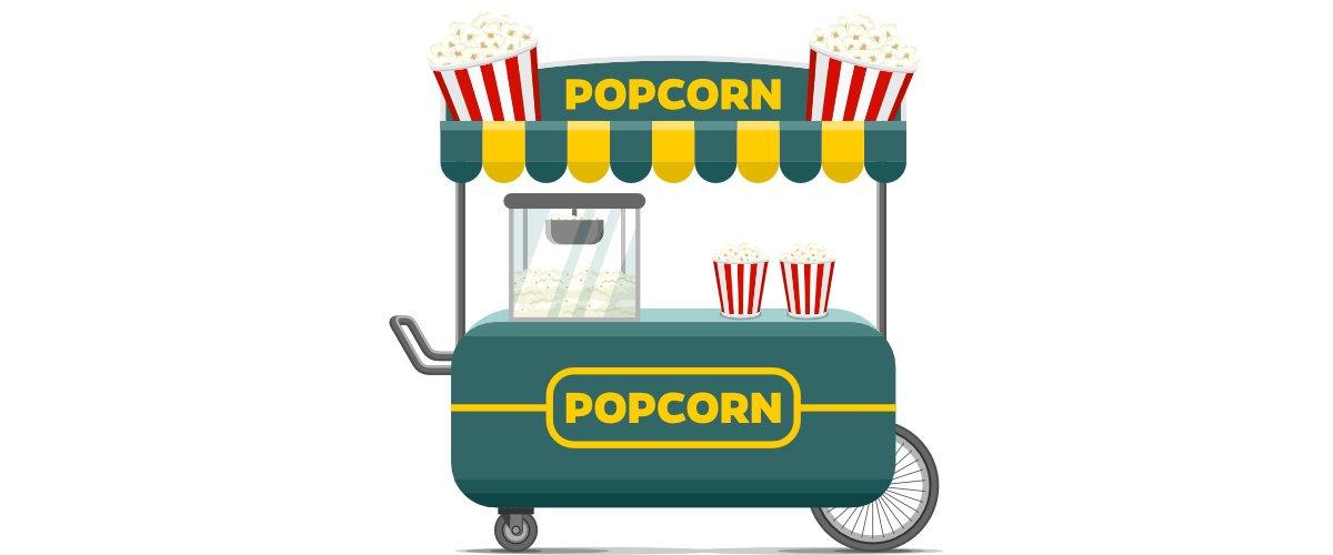 Dekoracje: Maszyna do popcornu (8 szablonów)
