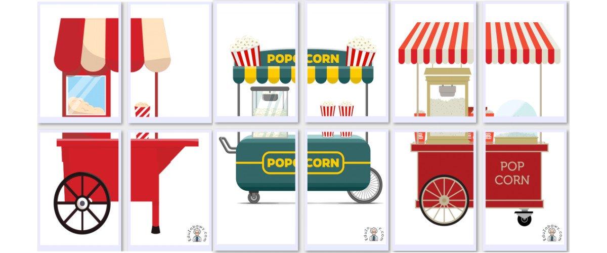 Dekoracje XXL: Maszyna do robienia popcornu (7 szablonów)