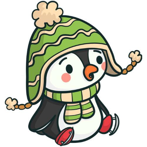 Napis Dzień pingwina - wzór w pingwina i iglo Dzień wiedzy o pingwinach Napisy (Dzień wiedzy o pingwinach)