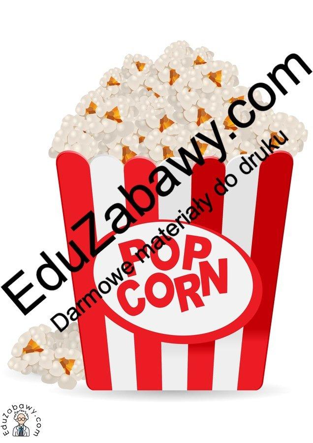 Dekoracje: Popcorn Dzień Popcornu Styczeń Tematyczne