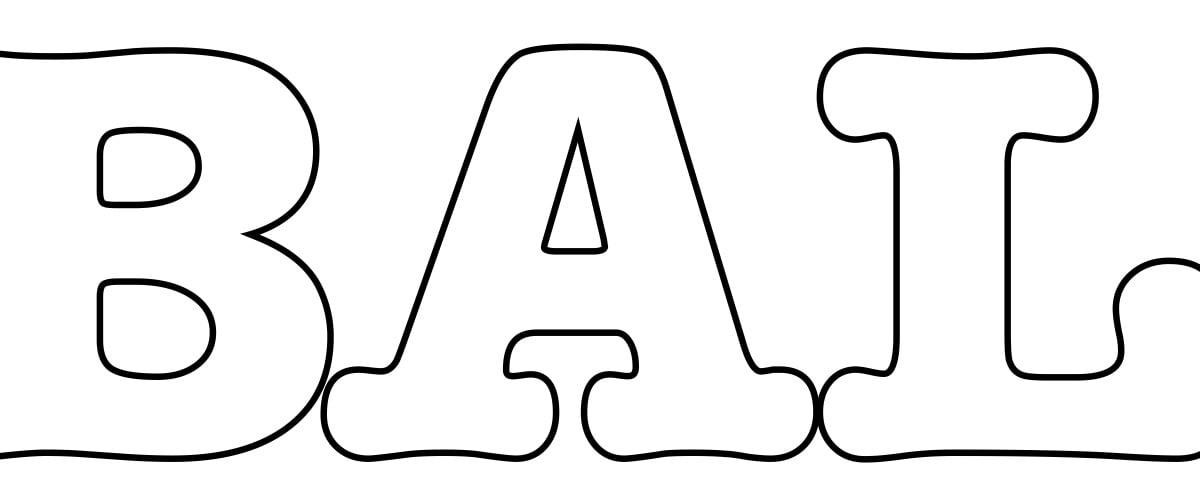 Napis Bal Karnawałowy – kontury