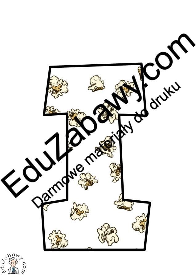 Napis Dzień Popcornu w popcorn Dzień Popcornu