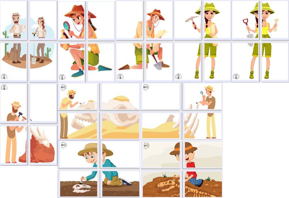 Dekoracje XXL: Archeolog (10 szablonów) Dekoracje Dekoracje (Dzień Dinozaura) Dzień Dinozaura