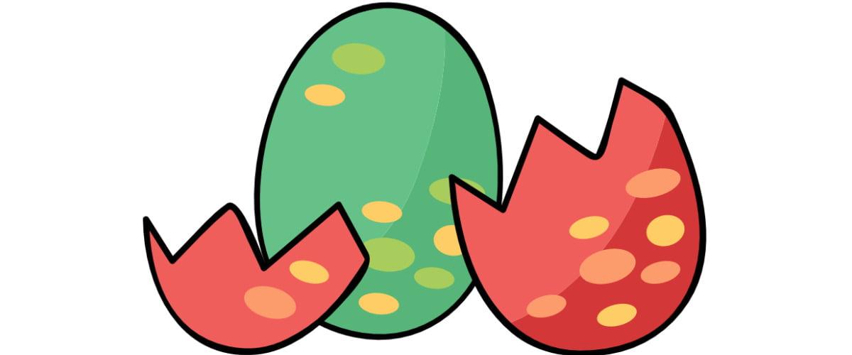 Dekoracje: Jajo dinozaura (10 szablonów)