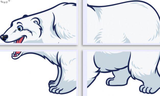 Dekoracje XXL: Niedźwiedź Polarny (10 szablonów)