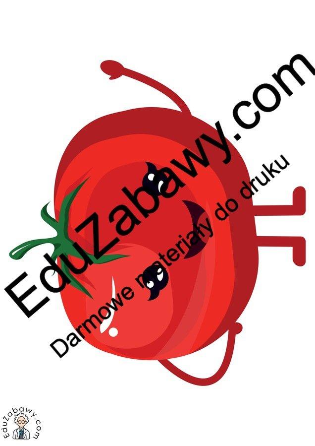 Dekoracje: Wesołe owoce i warzywa (10 szablonów) Dekoracje Dzień Pozytywnego Myślenia