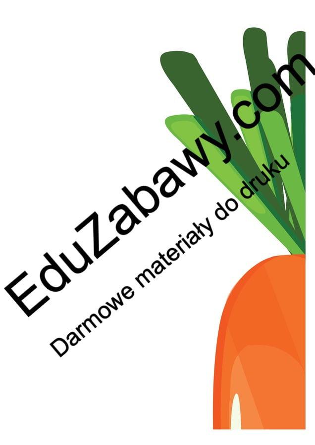 Dekoracje XXL: Wesołe owoce i warzywa (10 szablonów) Dekoracje Dzień Pozytywnego Myślenia