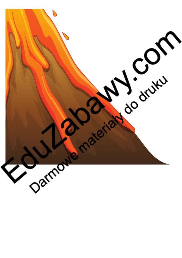 Dekoracje XXL: Wulkan (10 szablonów) Dekoracje Dekoracje (Dzień Dinozaura) Dzień Dinozaura