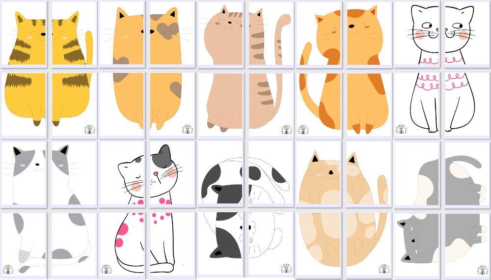 Dekoracje XXL: Koty (10 szablonów) Dekoracje Dekoracje (Dzień Kota) Światowy Dzień Kota