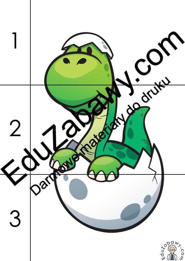 Dzień Dinozaura: Puzzle 3 elementy (10 kart pracy) Dzień Dinozaura Karty pracy Karty pracy (Dzień Dinozaura) Puzzle