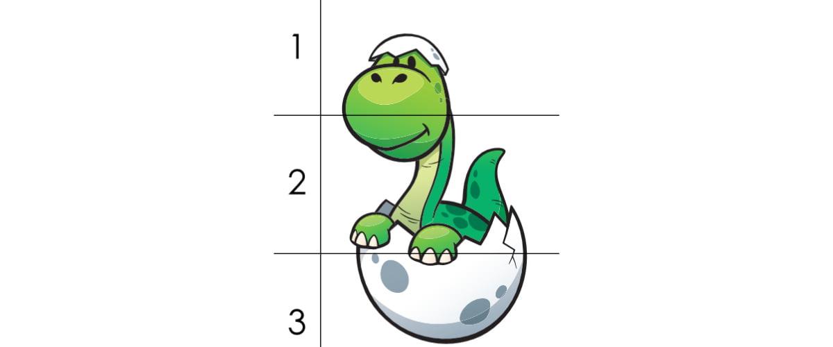 Dzień Dinozaura: Puzzle 3 elementy (10 kart pracy)