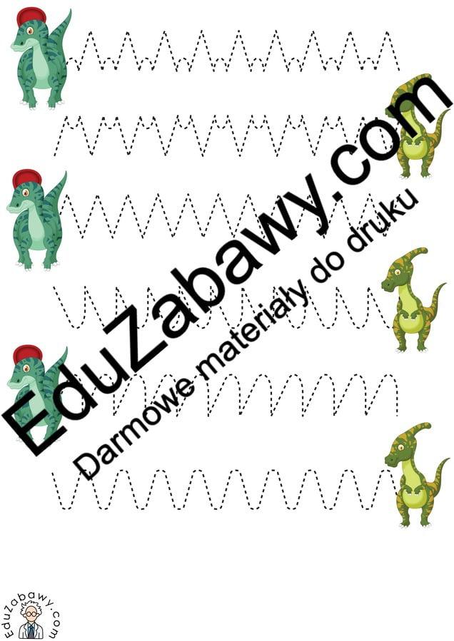 Dzień Dinozaura: Szlaczki (10 kart pracy) Dzień Dinozaura Karty pracy Karty pracy (Dzień Dinozaura) Szlaczki