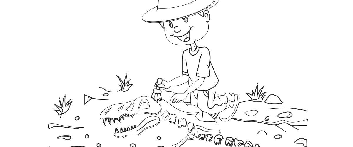 Kolorowanki: Archeolog (10 szablonów)