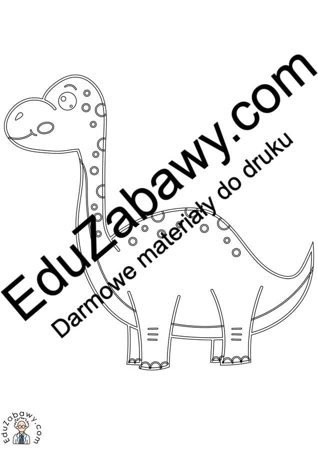 Kolorowanki: Dinozaury (10 szablonów) Kolorowanki Kolorowanki (Dzień Dinozaura) Zwierzęta (Kolorowanki)