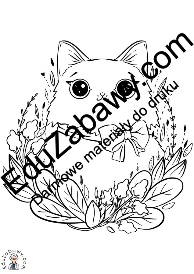 Kolorowanki: Koty (10 szablonów) Kolorowanki Kolorowanki (Światowy Dzień Kota) Światowy Dzień Kota