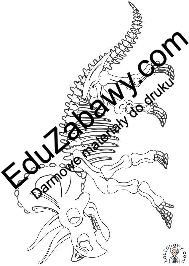 Kolorowanki: Szkielet Dinozaura (10 szablonów) Dzień Dinozaura Kolorowanki Kolorowanki (Dzień Dinozaura) Zwierzęta (Kolorowanki)