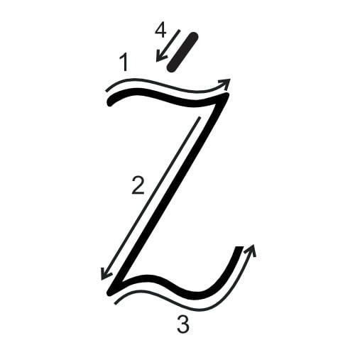Litera Ż: kolorowanki do wydruku Alfabet (Nauka pisania) Litera Ż (Nauka pisania) Nauka pisania
