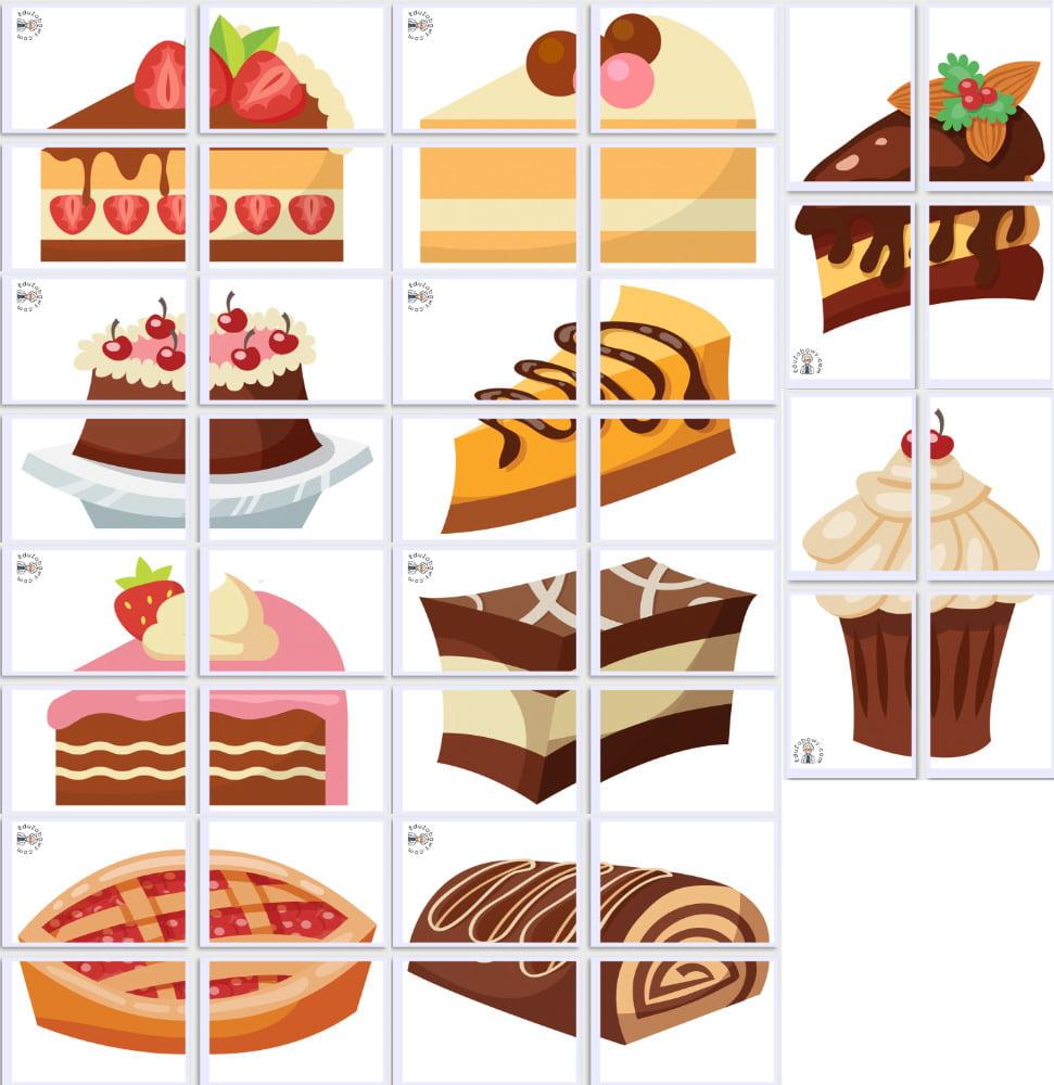 Dekoracje XXL: Ciasta (10 szablonów) Dekoracje Dekoracje (Dzień Piekarzy i Cukierników) Dzień Piekarzy i Cukierników
