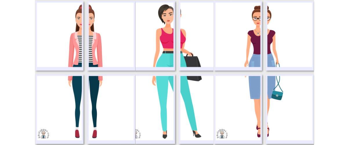 Dekoracje XXL: Kobieta (10 szablonów)