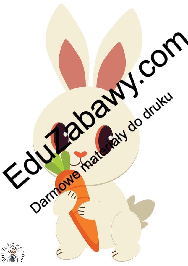 Dekoracje: Królik z marchewką (10 szablonów) Dekoracje Dekoracje (Dzień Marchewki)