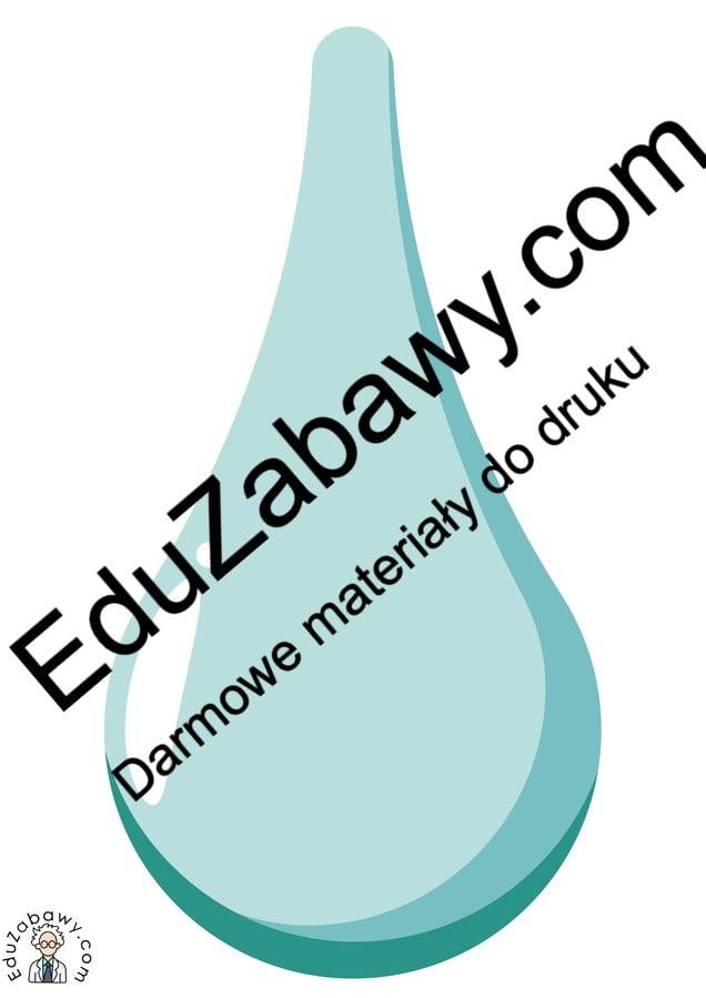 Dekoracje: Krople wody (10 szablonów) Dekoracje Dekoracje (Dzień Wody)