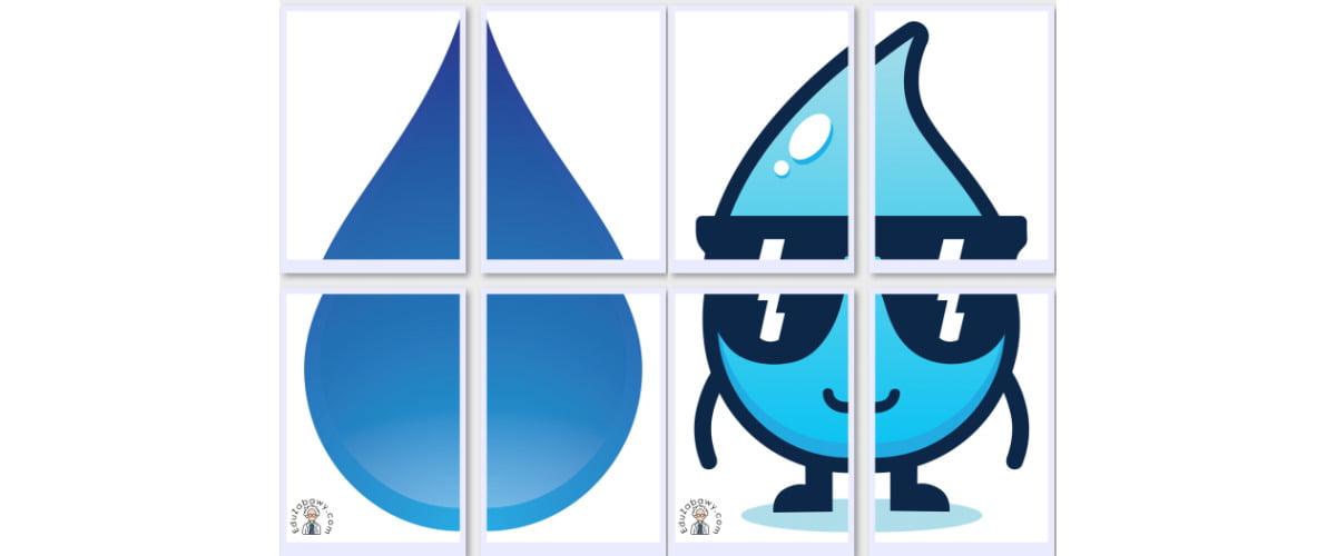 Dekoracje XXL: Krople wody (10 szablonów)