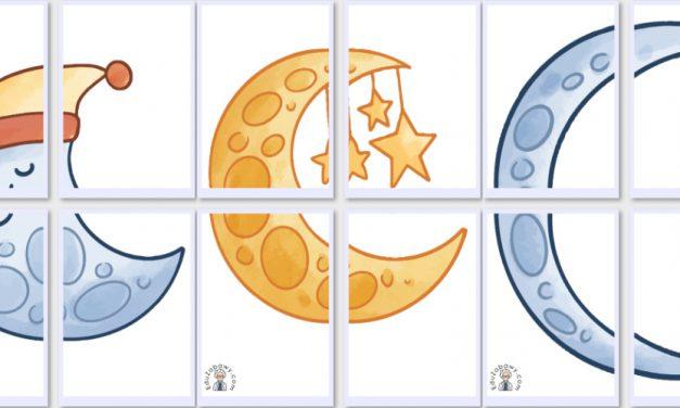 Dekoracje XXL: Księżyc (10 szablonów)