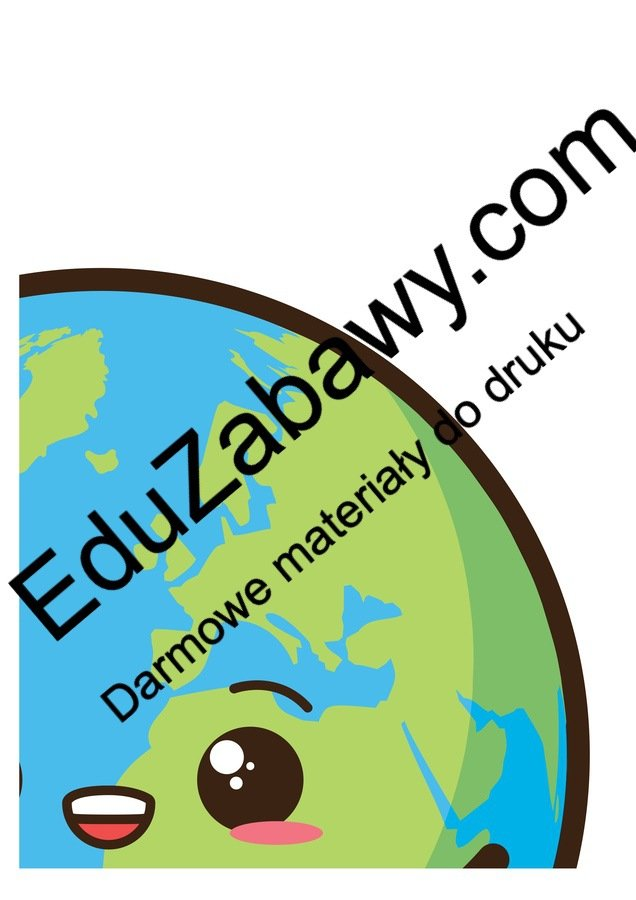 Dekoracje XXL: Kula Ziemska / Ziemia (10 szablonów) Dekoracje Dekoracje (Dzień Wody) Dekoracje (Dzień Ziemi) Dzień Ziemi