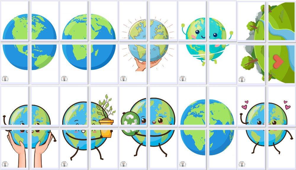 Dekoracje XXL: Kula Ziemska (10 szablonów) Dekoracje Dekoracje (Dzień Wody) Dzień Ziemi