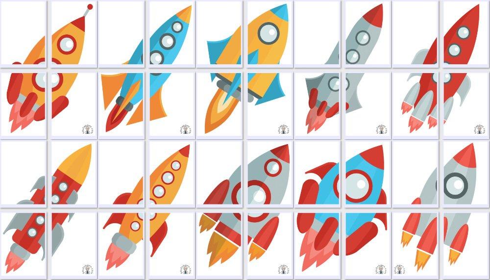 Dekoracje XXL: Rakiety (10 szablonów) Dekoracje Dekoracje (Dzień Astronomii) Dzień Astronomii