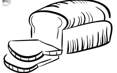 Kolorowanki: Pieczywo (10 szablonów)