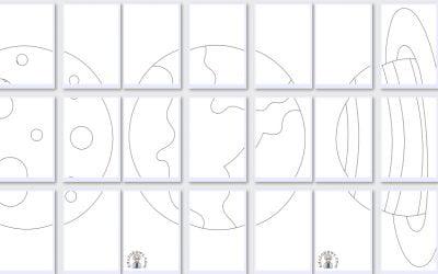 Kolorowanki XXL: Planety (10 szablonów)