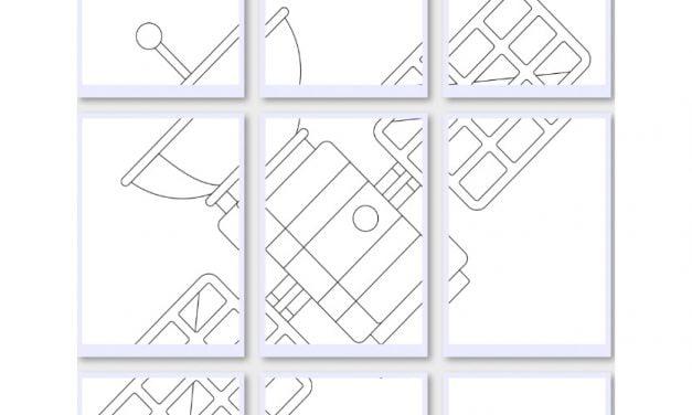 Kolorowanki XXL: Satelity (10 szablonów)