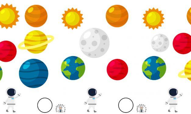 Kosmos: Nauka liczenia (10 kart pracy)
