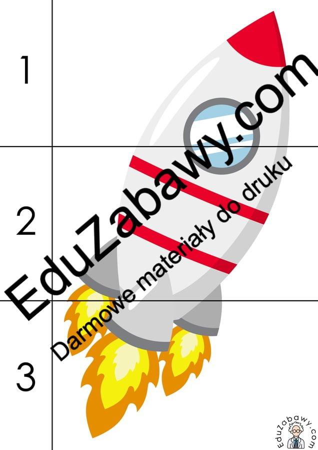Kosmos: Puzzle 3 elementy (10 kart pracy) Karty pracy Karty pracy (Dzień Astronomii) Puzzle