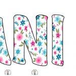 Napis Pani Wiosna w kwiaty