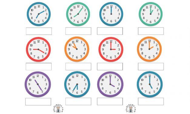 Nauka zegara – napisz godzinę