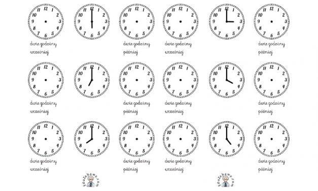 Nauka zegara – napisz godzinę wg instrukcji