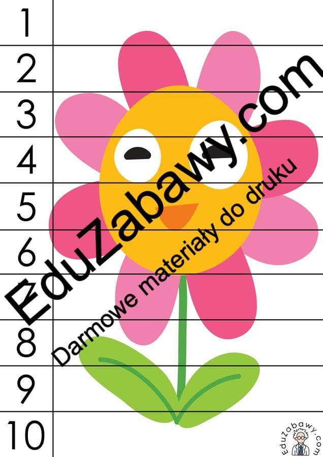 Wiosna: Puzzle 10 elementów (10 kart pracy) Karty pracy Karty pracy (Wiosna) Puzzle Wiosna