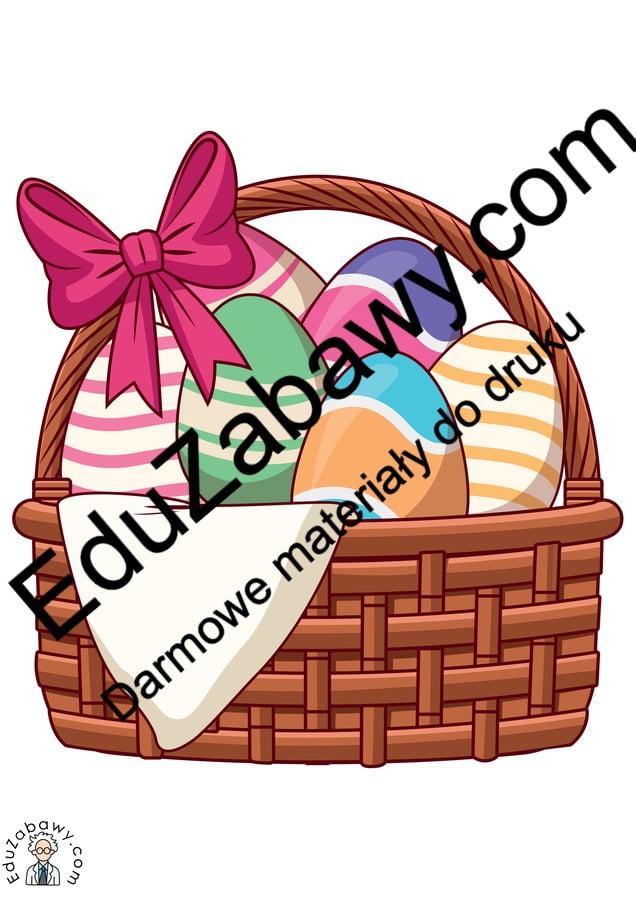 Dekoracje: Koszyk wielkanocny (10 szablonów) Dekoracje Dekoracje (Wielkanoc) Wielkanoc