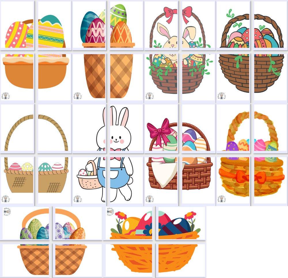 Dekoracje XXL: Koszyk wielkanocny (10 szablonów) Dekoracje Dekoracje (Wielkanoc) Wielkanoc
